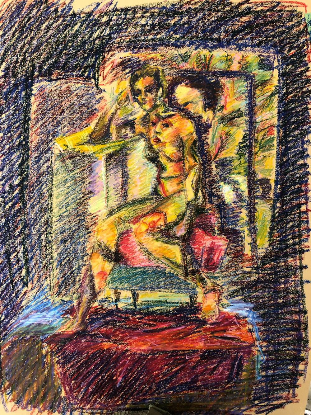 Projection on Figure Pastel